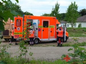 Einer der beiden Rettungswagen der SEG-5